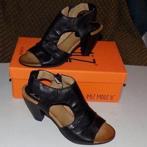 New Miz Mooz Mardi Black leather EU40 US9-9.5